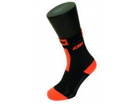 Ponožky KTM Factory Team Cycling 2021 Black/orange