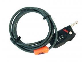 Zámek KTM Mini Cable Lock Code 2021 Black