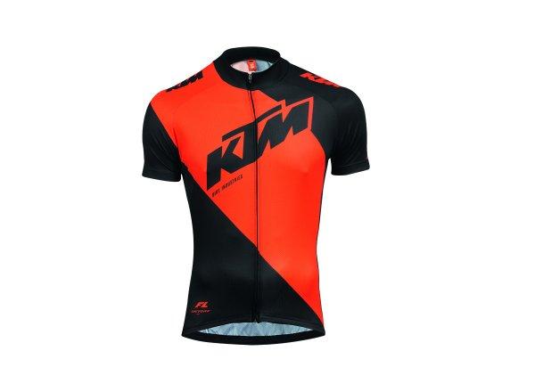 Dětský cyklistický dres KTM Factory Youth Black/orange