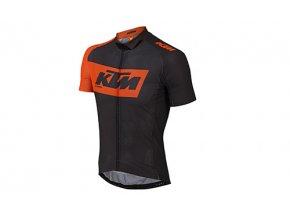 Cyklistický dres KTM Factory Team Light Black/orange