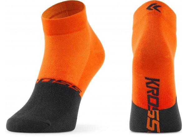 Ponožky KROSS ACTIVE MAN LOW Orange/grey