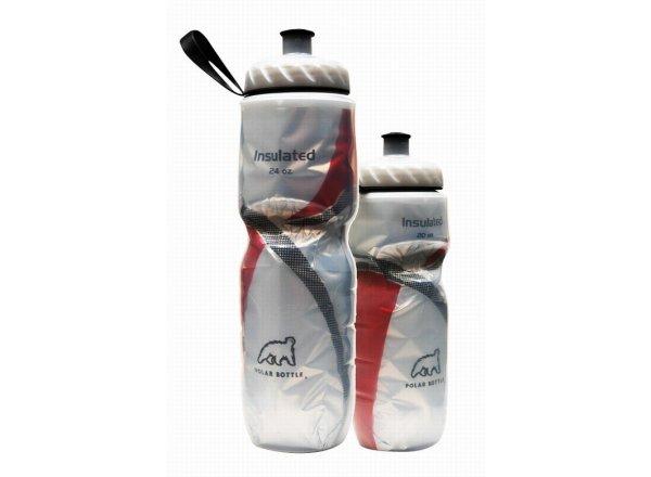Cyklistická láhev POLAR BOTTLE Insulated 0,7l RED STRIPE