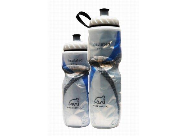 Cyklistická láhev POLAR BOTTLE Insulated 0,6l BLUE STRIPE
