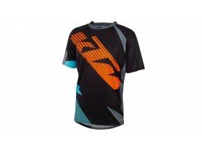 Cyklistický dres KTM Factory ENDURO 2020 Black/orange/aqua