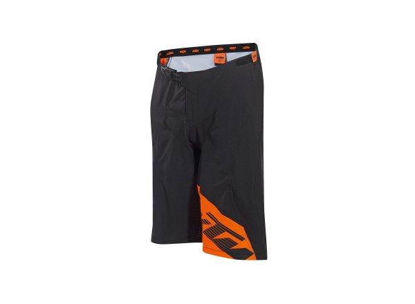 Cyklistické kraťasy KTM FACTORY ENDURO SHORT volné Black/orange