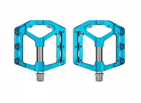 Pedály CUBE RFR Pedals Flat SLT 2.0 blue/grey