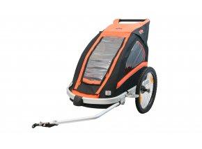 Dětský vozík za kolo KTM Trailer Carry More (Jogger Kit + 360°kolečko) Orange/black